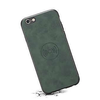 حقيبة هاتف جلدي مع حامل  لiPhone7plus / 8plus الرجعية الخضراء