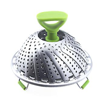 Swotgdoby Adjustable Folding Stainless Steel Steamer For Veggie Fish Seafood Boiled Eggs Cooking