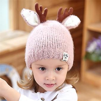 Automne Noël mignon Renne Bébé Bonnet Doux Crochet Tricoté Chapeau Pour,, Enfants
