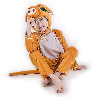 L (130cm) brown pig cosplay suit costume stage clothes holiday clothes cai643
