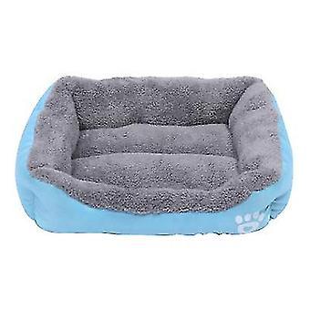 S 43 * 32cm chat bleu, lit de chien, nid d'animal doux et confortable az21795