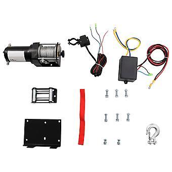 vidaXL Treuils électriques + guide de montage de la plaque de montage 1360 kg 12V