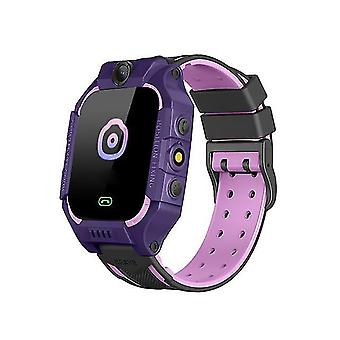 Casual Kids Smart Watch SOS Anti Lost Call Phone Children's Smart Watch Gifts Smart Watch Purple