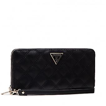 Portefeuille Guess Cessily Slg Large Zip Around Noir