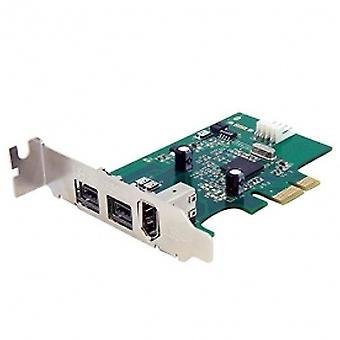 StarTech 3 Port 2b 1a Low Profile 1394 PCI Express FireWire Card Adaptor