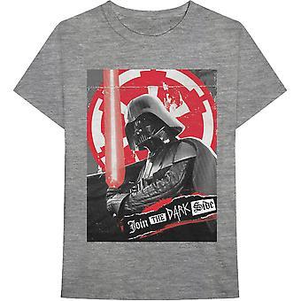 Star Wars - Darth Rock Three Miesten keskikokoinen T-paita - Harmaa