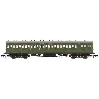 """Hornby SR 58' Maunsell Ombyggd (ex-LSWR 48') Åtta fackbroms tredje 2636 """"Set 42"""" Era 3 Modelltåg"""
