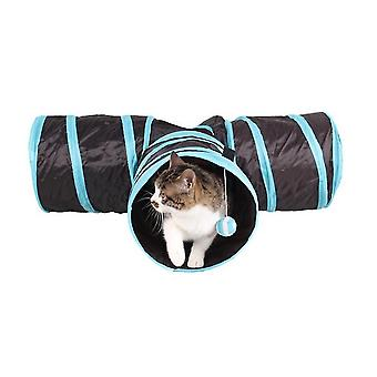 Three-way Ring Cat Paper Channel Will Issue Rustling Sound Pet Cat Tunnel Foldable Toys