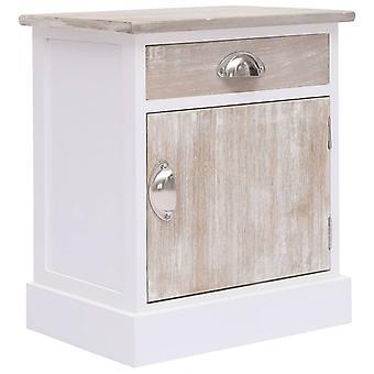 vidaXL bedside table 38x28x45 cm paulownia wood
