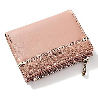 Coin purse, card bag, clutch bag, lady wallet(Pink)