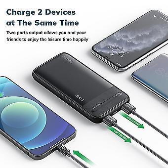 Power Bank 10000mAh Carregador de bateria externa portátil para iPhone 12 Xiaomi mi 10