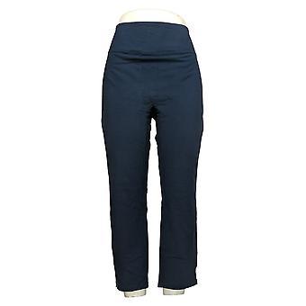 Kvinder med kontrol Kvinders Petite Bukser Sleek Mave Ctrl Slim Blue A391212