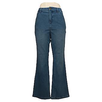 Belle af Kim Gravel Kvinders Jeans Flexibelle 5 Pocket Bootcut Blue A309910