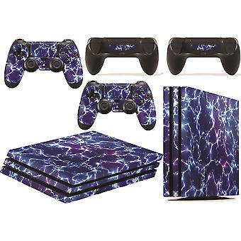 GNG PS4 Pro -konsolin sähkömyrsky Starwars Skin Tarra Vinaali Tarra + 2 ohjaimen nahat asetettu