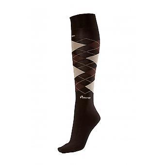 Pikeur Womens Knee Socks - Dark Brown/light Brown/beige (35/40)