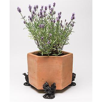 Potty Feet Woodpecker Themed Plant Pot Feet - Bronze Color - Set of 3