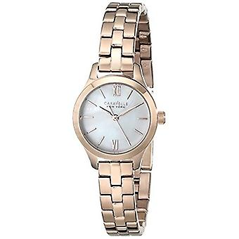 Caravelle New York Women's 44L156 Rose Gold-Tone Stainless Steel Watch