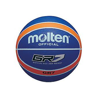 Sula BGR-sarja värillinen sisä-/ulkosininen/oranssi 12 paneelin nailonkoripallo