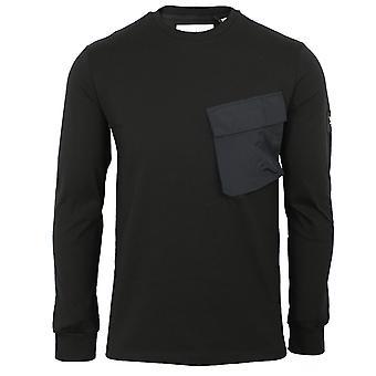 Lyle & scott men's jet black pocket t-shirt