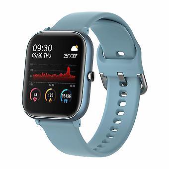 1.4 tum Smart Watch Män Full Touch Multi Sport Mode Smarta klockor (blå)