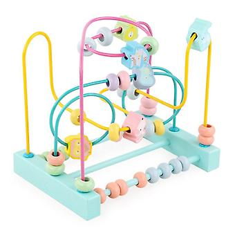 Kids Wooden Toys Maze Circles Around Beads Abacus Math Toys Puzzle Kids  Gifts|Math Toys