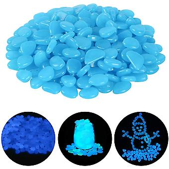 Decorative Cobbled Luminous Stone At Night, Suitable For Outdoor Garden Aquarium Courtyard Stone Blue (pack Of 100)