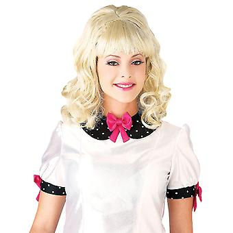 1960s Teaser Sock Hop Hairspray Retro Grease Bouffant Blonde Women Costume Wig