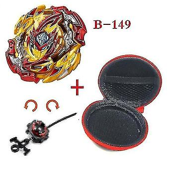 Spinning tops 5 beyblade burst sparking turbo b48 launcher  metal top gyro blade blade spinning fight toys b149