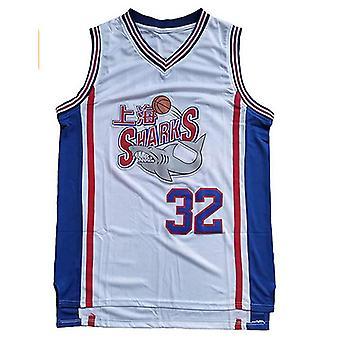 Hommes #32 Jimmer Fredette Shanghai Sharks Basket-ball Maillot Blanc