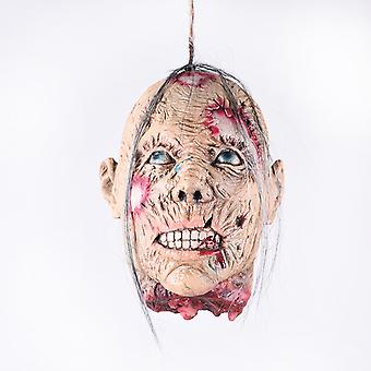 Horror Halloween Ghost Ornaments Skull Blood Demon Horror Halloween Props Ghost Hanger Haunted Props-female Head