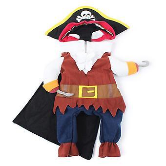 Vicces macska jelmezek Pirate Suit Cat Clothes Kitty Kitten Corsair Halloween Jelmez Puppy Suits Öltözködés Fél ruhák Macskák