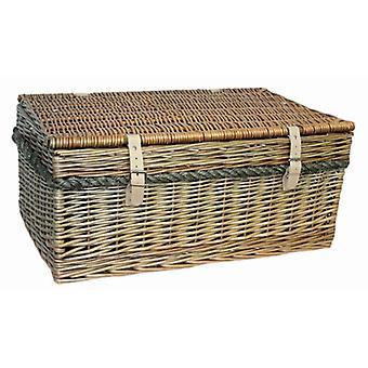 62cm Antique Wash Picnic Basket