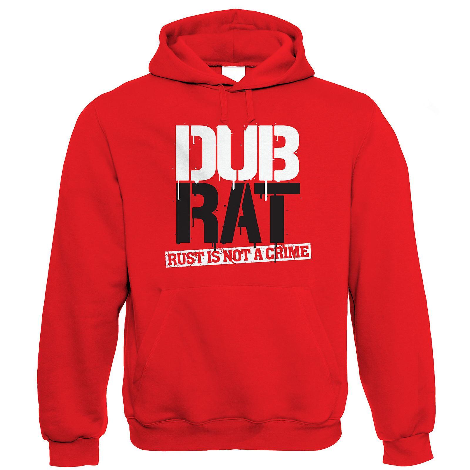 Dub Rat T Shirt Vee Dub Camper Van Split Screen Resto Cal Look Hood Ride Rod