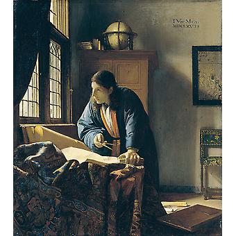 Johannes Vermeer - The Geographer Poster Print Giclee