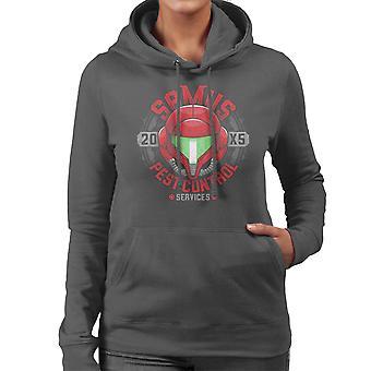 Metroid, Samus Pest Control Women's Hooded Sweatshirt