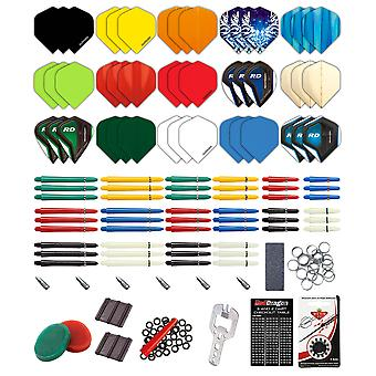 Red Dragon dart 200 stykke dart Custom Fit Pack & Red Dragon kassen kort