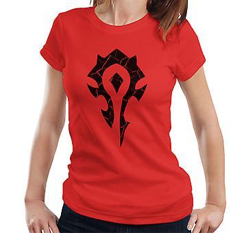 大群のシンボル世界 Warcraft ブラック レディース t シャツの