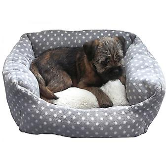 Rosewood 40 Winks Dog Bed Small Grey/Cream Spot 16