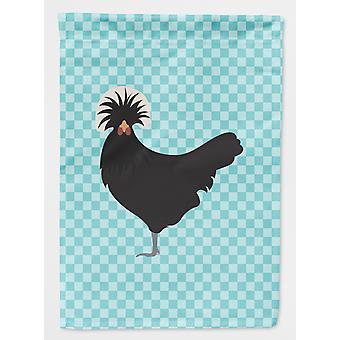 Carolines skatter BB8008GF polsk Polen kylling blå sjekk flagg hage størrelse