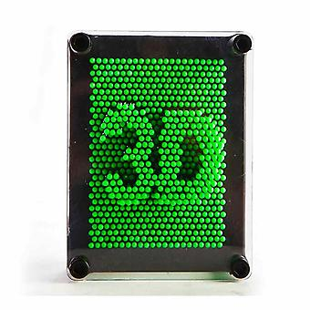 Green Neon Pin Art