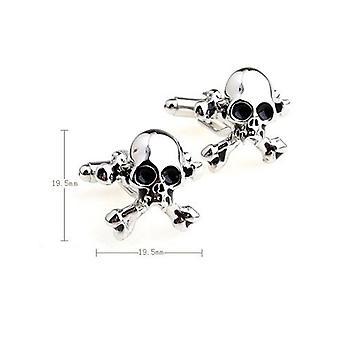 Skull Cross Bones Pirate Party Cufflinks Novelty Wedding Fun Birthday Gift
