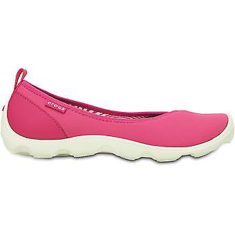 التماسيح السيدات Duet يوم حافل شقة الانزلاق على الأحذية كروسليتي الوردي