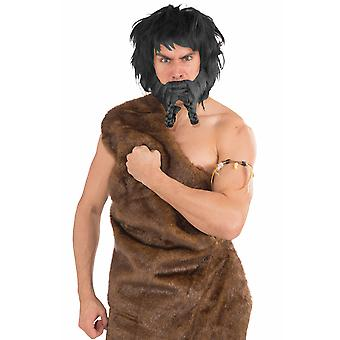 Viking Raider médiévales scandinaves guerrier barbare hommes Costume Moustache de Barbe Noire