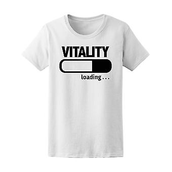 Förloppsindikatorn lastning vitalitet Tee kvinnors-bild av Shutterstock