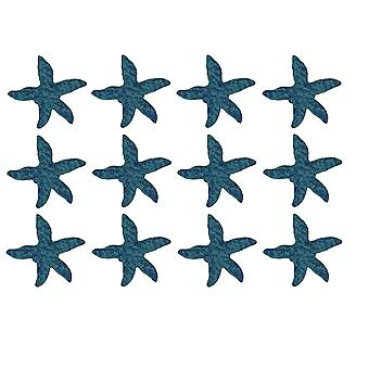 Blue Cast Iron Starfish Drawer Pull Set of 12