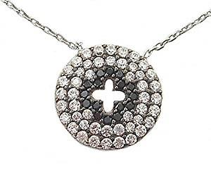 Sterling Silver Necklace with a cross in the middle