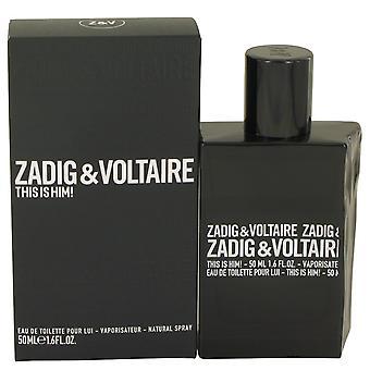 Zadig & Voltaire This is Him Eau de Toilette 50ml EDT Spray
