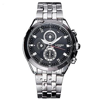 Mens Watch Black Silver Boys Smart Analogue Watches Business Gift Present
