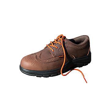 Resultera Mens chefens Brogue stålhätta säkerhet Oxford sko S1-P