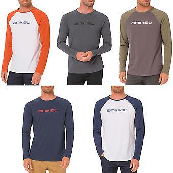 Dierlijke Mens actie Logo lange mouwen en lage kraag T-Shirt Tee Top